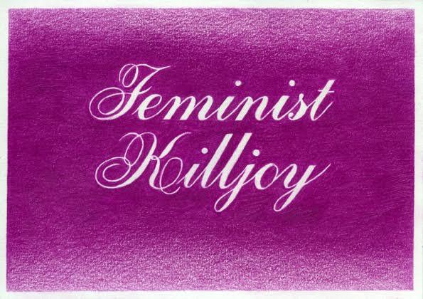Marinka Bozzec, feminist killjoy, pencil on paper, 2016