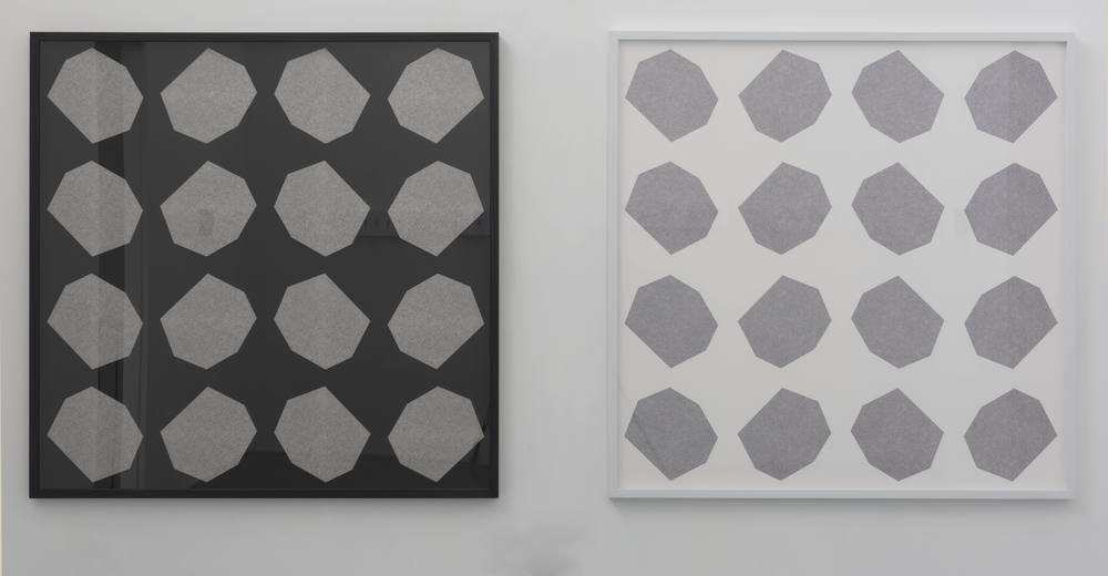 HELGA GROVES; Lithic ( topology series ) animation stills#1 2014, archival pigment print on cotton rag, 130x 130 cm framed