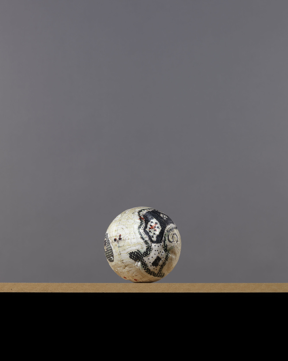 DEBRA PHILLIPS, Polystyrene ball, grey, 2012.
