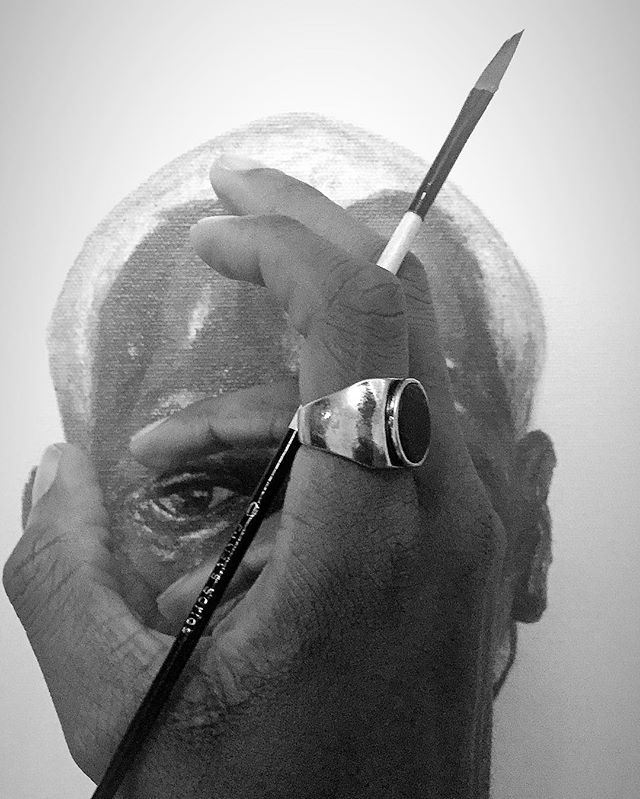 """""""my hand was made strong by the hands of the Almighty we forwarding this generation, triumphantly.."""" — bob the 🐐🇯🇲 . . . . . . . . . . . #thegunnavision #art #portrait #figure #acrylicpainting #backtoreality #realism #acrylic #painting #nawden #artist #artoftheday #artforsale #contemporaryart  #supportblackart #torontoartist"""