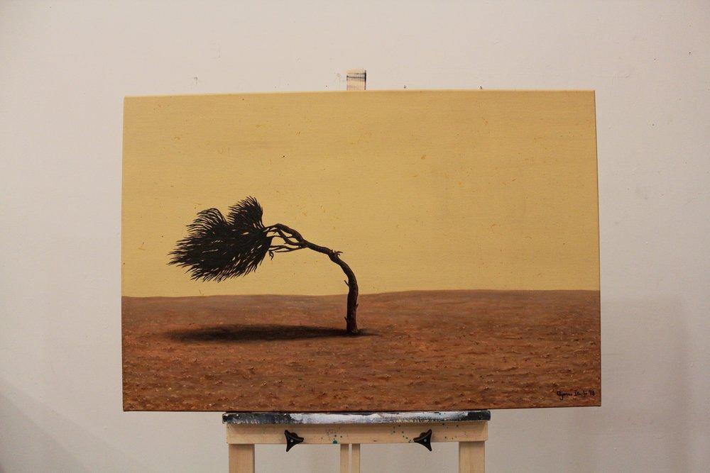 """[ On The Rock ]    acrylic on 36"""" x 24"""" canvas"""