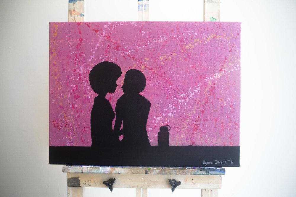 "[ Lovers Rock ]    acrylic on 24"" x 18"" canvas"