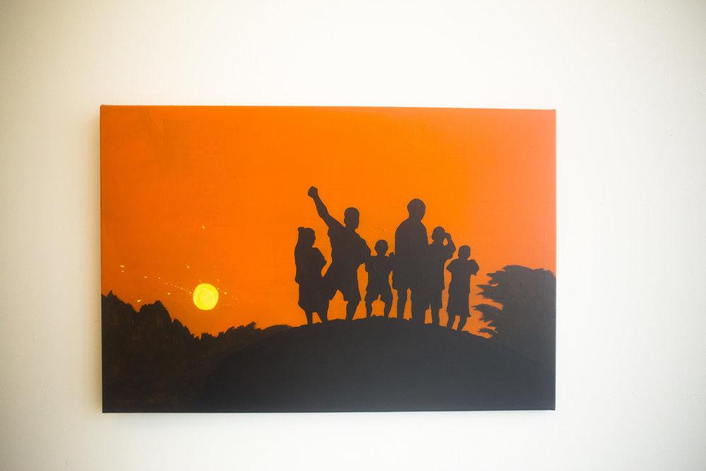 "[ Sabbath ]    acrylic on 36"" x 24"" canvas"