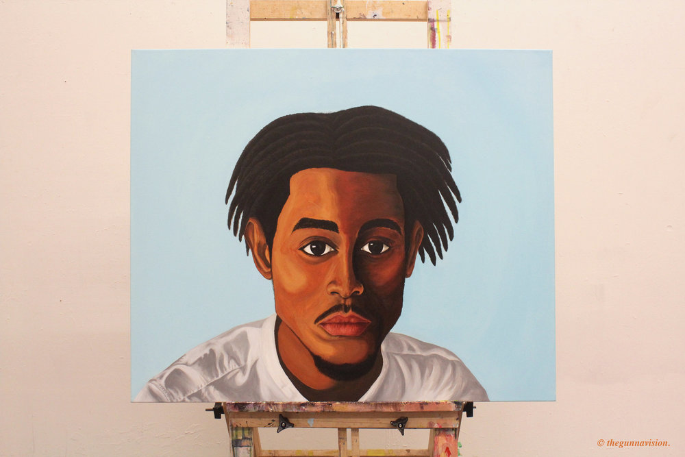 """[ L'Artiste ]    acrylic on 36"""" x 30"""" canvas"""