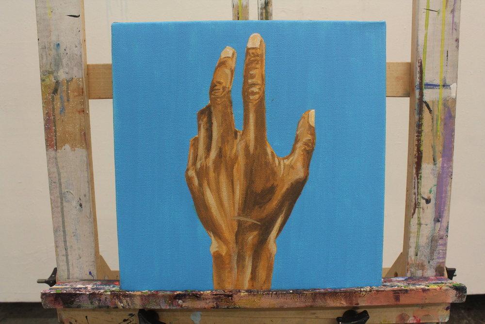 """[ Same Diff I ]    acrylic on 12"""" x 12"""" canvas"""