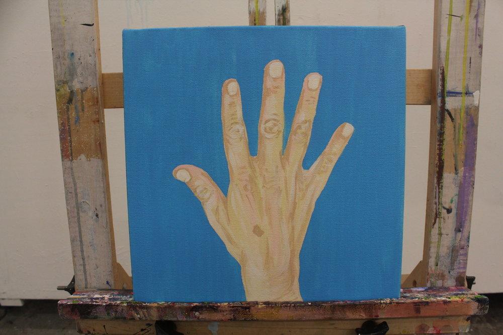 "[ Same Diff II ]    acrylic on 12"" x 12"" canvas"