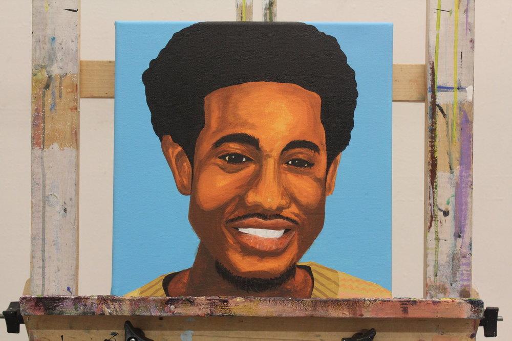 "[ Self Study I ]    acrylic on 12"" x 12"" canvas"
