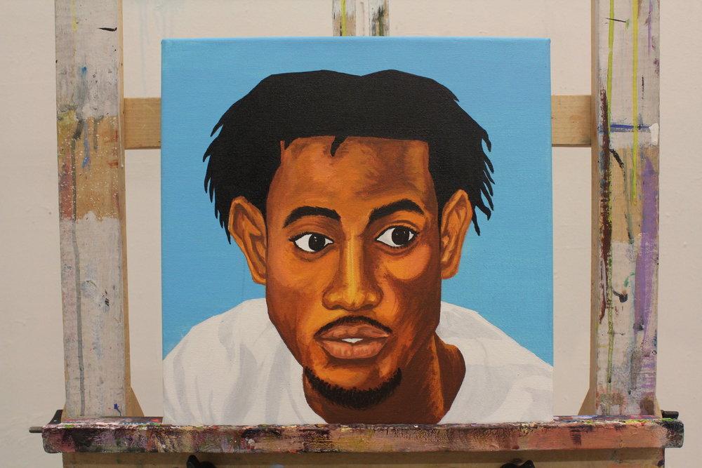 """[ Self Study II ]    acrylic on 12"""" x 12"""" canvas"""