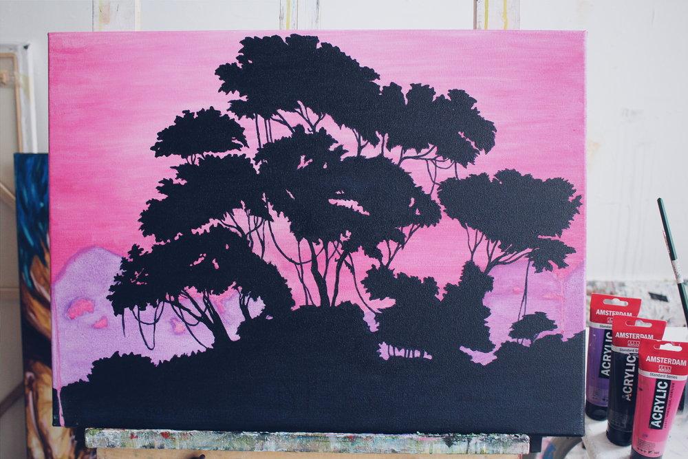 """[ Para.dies ]    acrylic on 24"""" x 18"""" canvas"""