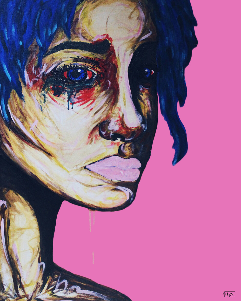"[ Chlo.e ]    acrylic on 24"" x 30"" canvas"