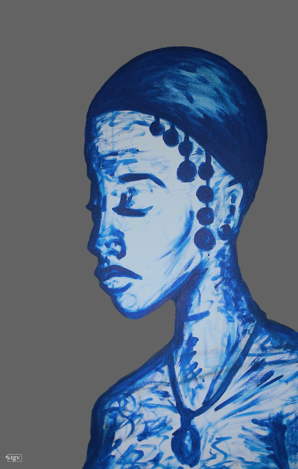 "[ Luna ]    acrylic on 24"" x 36"" canvas"