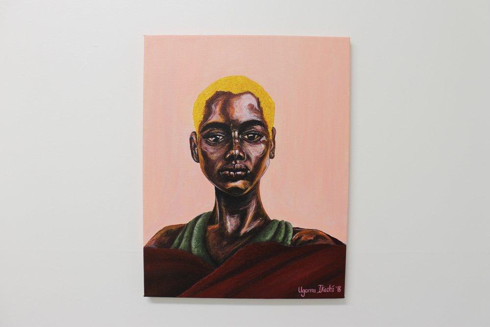 """[ St. Mary ]    acrylic on 14"""" x 18"""" canvas"""