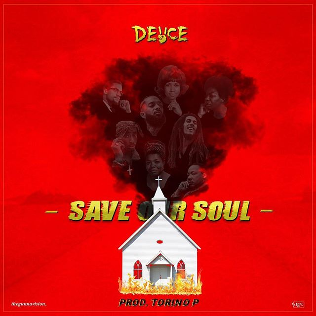 [• Save Our Soul •] design for new single by @deuceknows_ & @torinogotheat🔥🔥 available now on all streaming platforms! swipe for a preview & go bump the song via link his bio ⚡️ . . . . . . . . . . . . . #thegunnavision #art #deuce #saveoursoul #torinop #Godspeed #graphicdesign #albumcover #coverart #artist #artoftheday #torontoartist #torontomusic