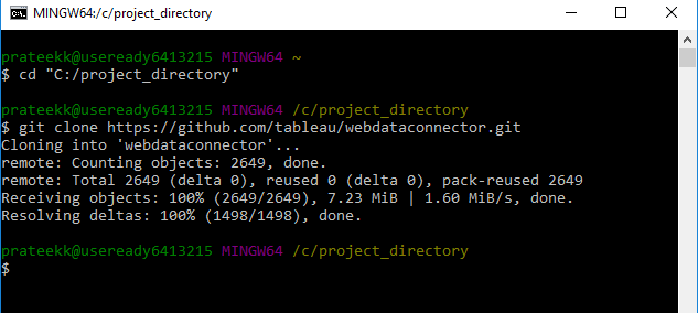 Install WDC SDK repository