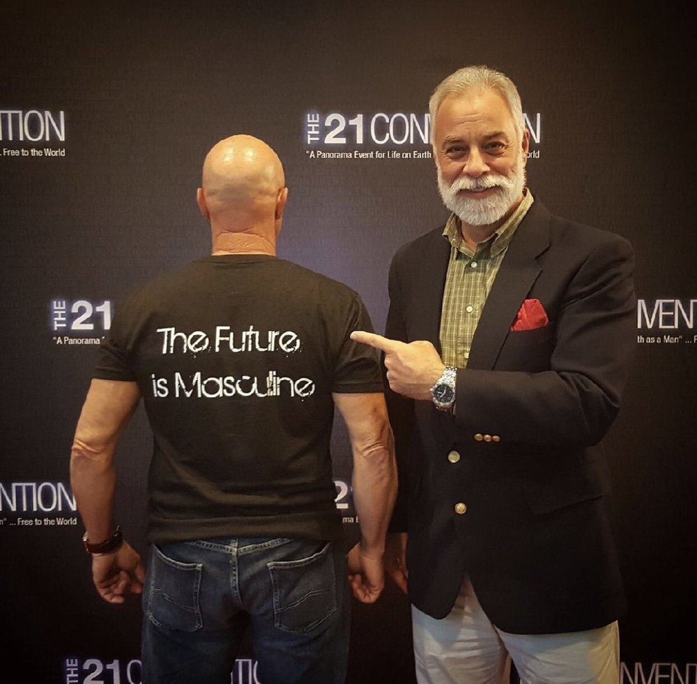 """George Bruno - With over 120,000 loyal YouTube subscribers, """"the Sultan of Silver"""" is easily the most interesting man of the manosphere. Patriarch, host of The 21 Report and The Daybreak Show, George is an elite ambassador speaker of 21CON."""