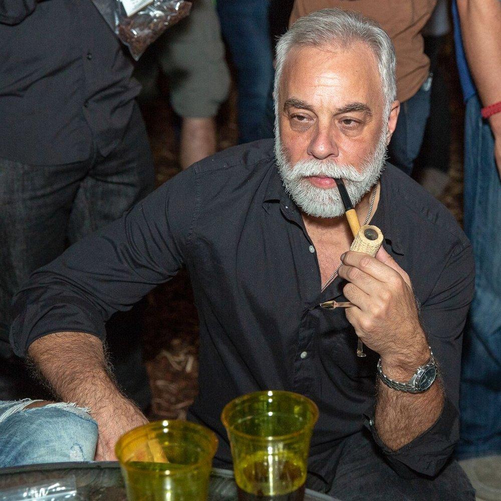 George B. Teaching Pipe Smoking