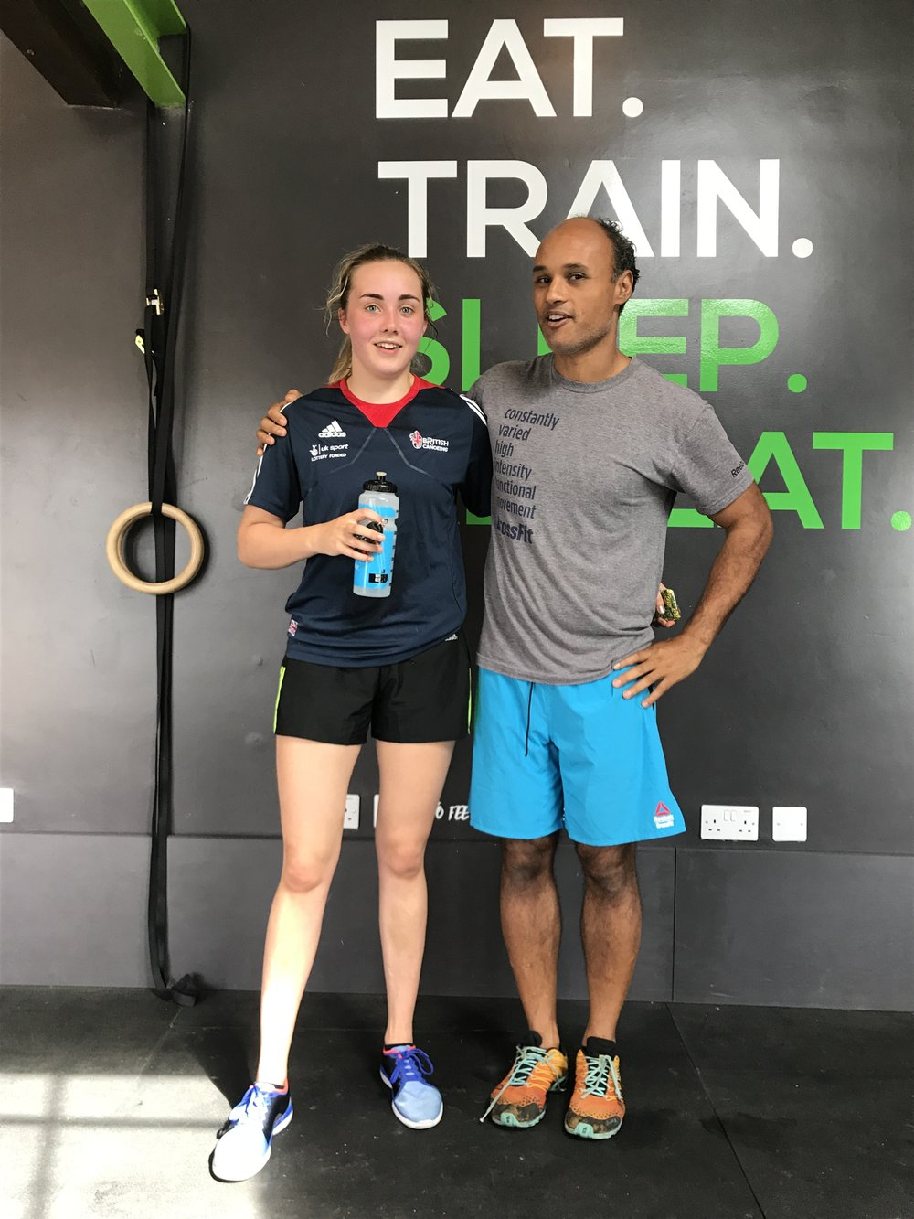 There are no excuses just choices - From the 1st day Victoria walked through our doors asking if we could help her to get stronger & fitter to achieve her goal - be part of GB's Olympic team - we knew she was something special.On short break from her training camp, she dropped in for a workout. She got a long road ahead to become an Olympian and we are very proud of her. She is a great example for all our other teens in our box. We will keep you up to date with every step she takes.Keep on going Victoria - every rep counts!