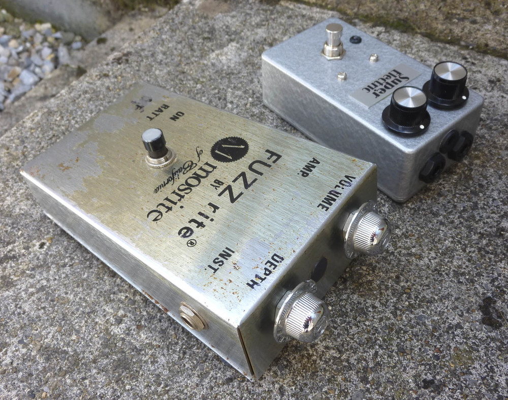 Super Electric Allrite (silicon) with original silicon Mosrite Fuzzrite.