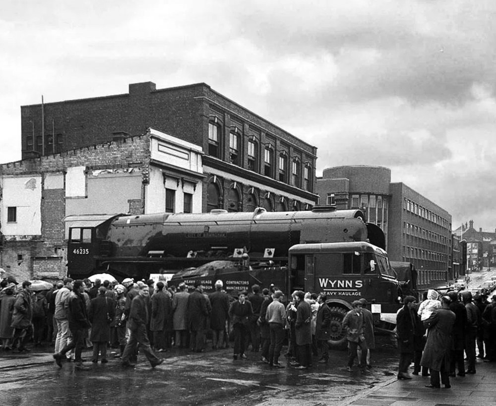 The City of Birmingham locomotive being moved into the old Birmingham Science Museum  Photo credit John Stoddart