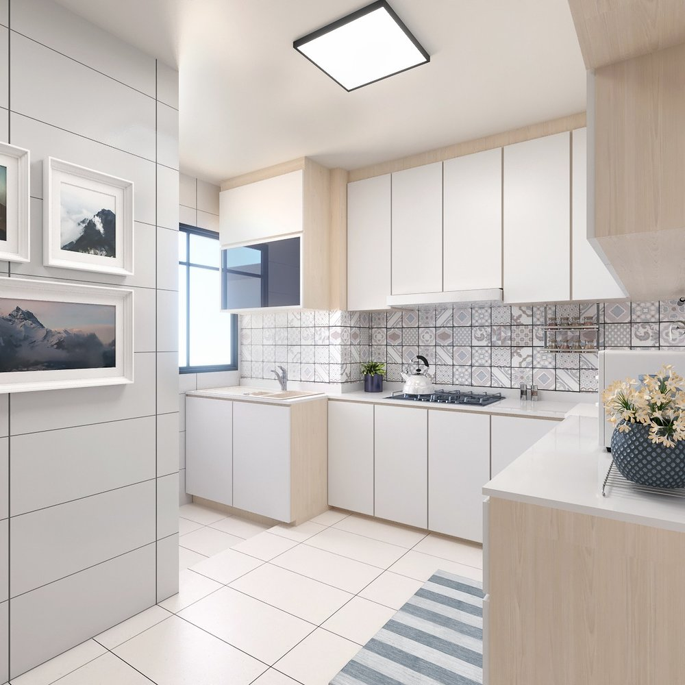 A Rendering Persepective of a Kitchen .