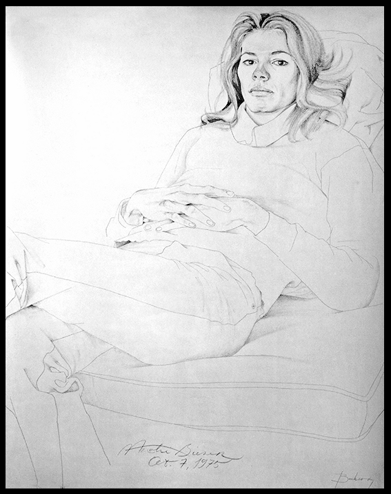 Drawing of Natalie: Don Bachardy