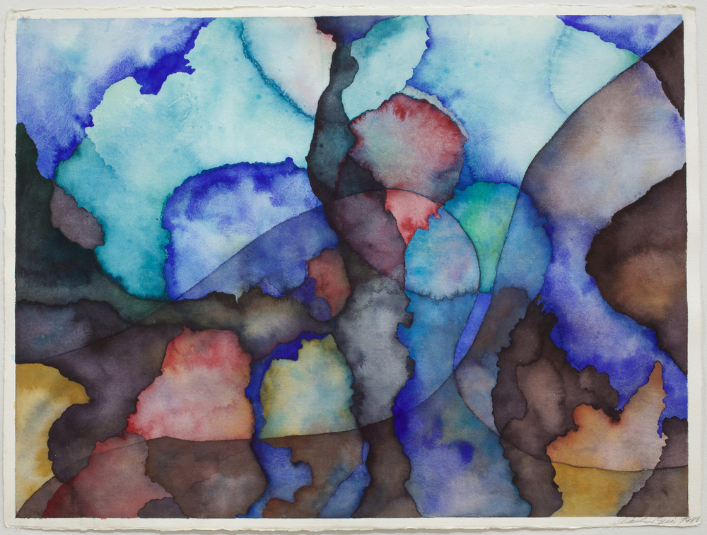"""Sierra Nevada series, 22"""" x 30"""", watercolor on Arches watercolor paper, 1982"""