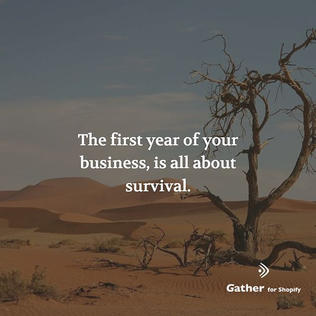The first year of your business, is all about survival. First there is excitement and lots of forward planning, then it becomes about working within the constraints. Lack for funding, lack of time, lack of resources. This is when you hack solutions, be creative, navigate through the constraints, and wear many hats as a founder. #shopify #ecommerce