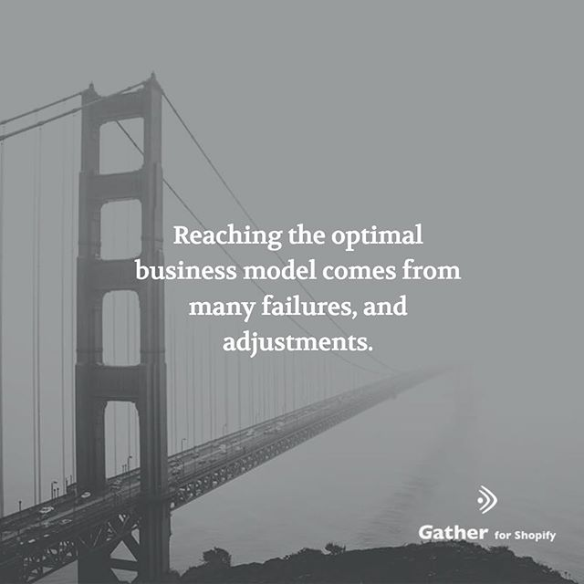 Reaching the optimal business model comes from many failures, and adjustments. This is similar to the construction industry, where failure is an integral part of the design process that leads to an optimal structure #ecommerce #shopify
