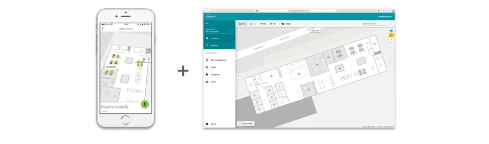 3. Kaartweergave van het kantoor - Deze feature maakt wisselen tussen de standaard 'Gridview' en Kaartweergave van het kantoor in de App mogelijk. Met behulp van Google Indoor Maps realiseren wij een interactieve plattegrond.Jaarprijs:    £15,-per iotspot vermits het kantoor(deel) dat met de kaart moet worden weergegeven volledig iotspot geactiveerd is.