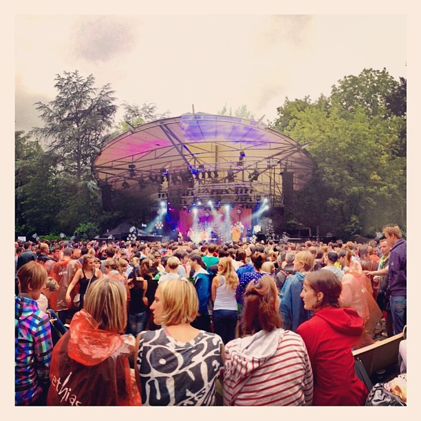Ik denk dat de festivalzomer is begonnen #ontherocks (Taken with  Instagram  at Openluchttheater)