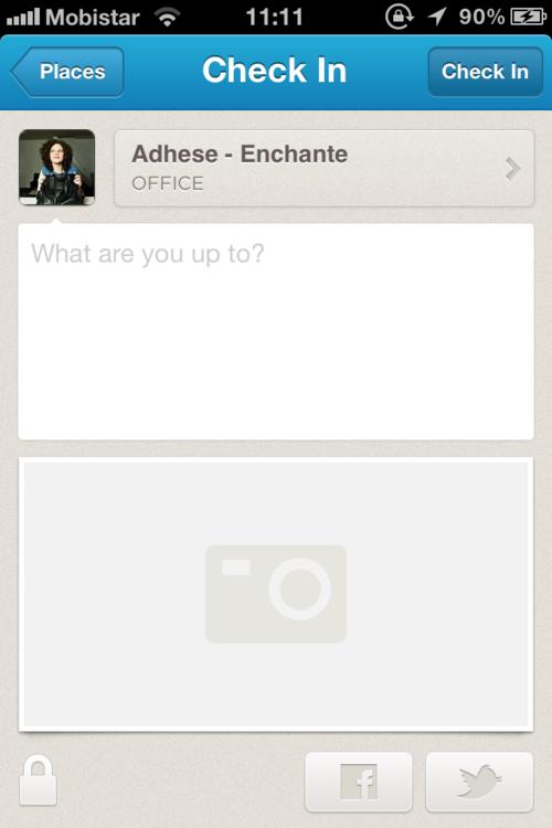 new foursquare check-in