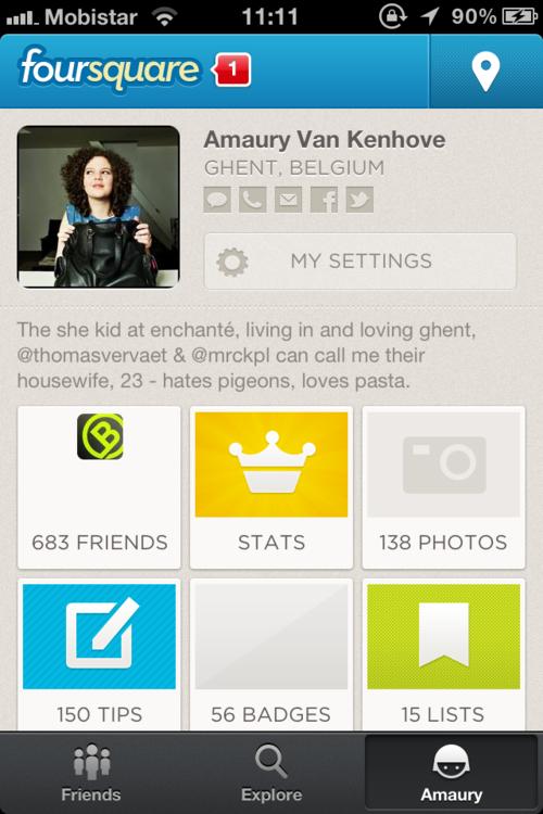 new foursquare profile