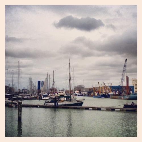Boten haven Zeebrugge