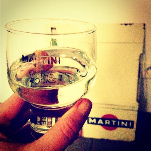 Martini on the rocks