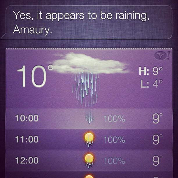 Siri is een wijsneus! ☔ (Taken with  instagram )