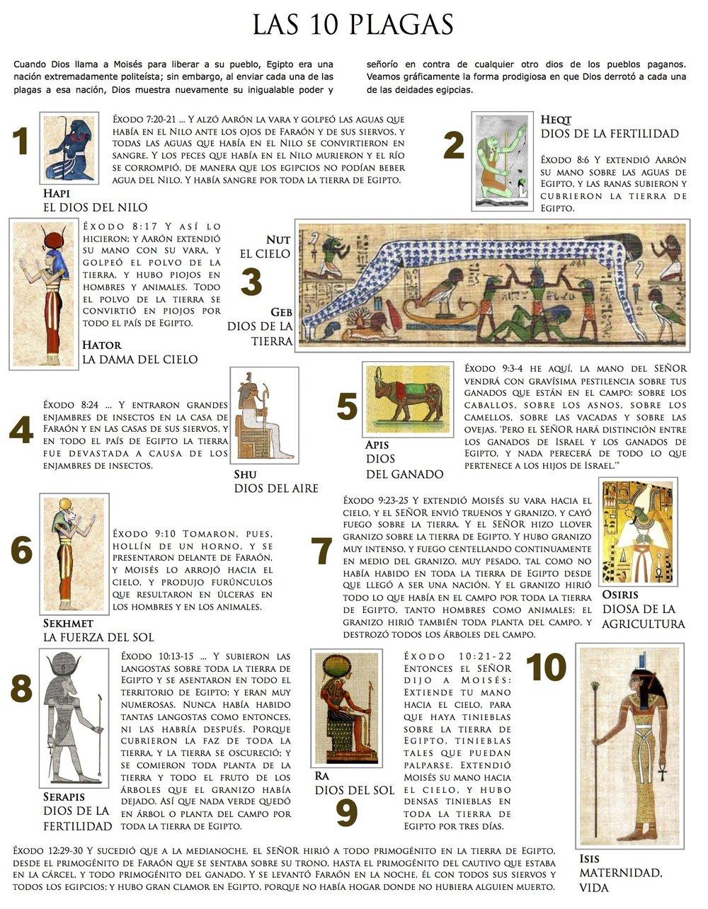 Diagrama de Las Diez Plagas. Página 12. Haz click en la imagen para verla en pantalla completa. Todos los derechos reservados. Copyright © Ministerios Ebenezer New York