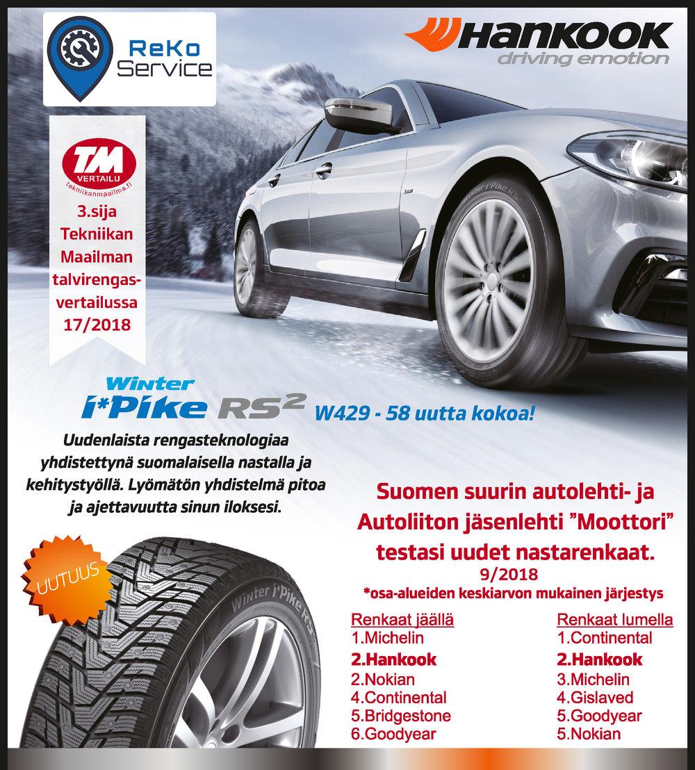 Hankook i*Pike RS2 on menestynyt tuoreissa rengastesteissä loistavasti!