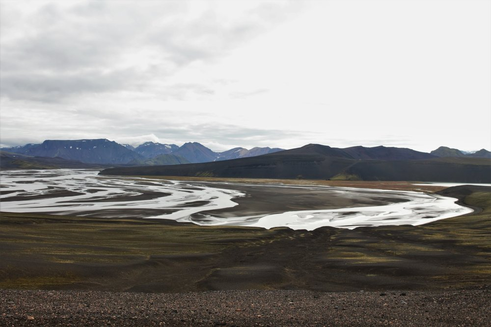 More gorgeous braided rivers amongst ancient volcanoes...
