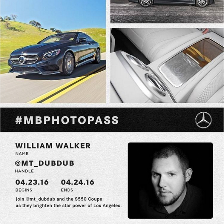 William Walker  S550 Coupe Photo Pass