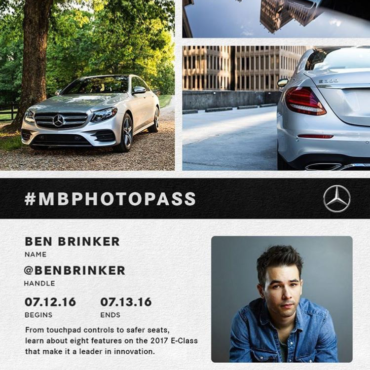 Ben Brinker  2017 E-Class Photo Pass