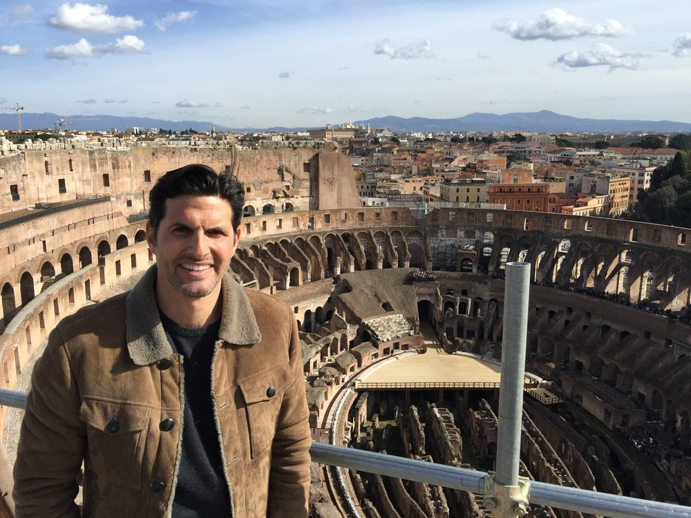 Pictured : Darius at the top of the Colosseum, Rome, Italy.