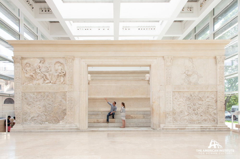 On-site learning during our 2018 program at the Museum of the Ara Pacis, Rome. photo by Crystal Shawn.