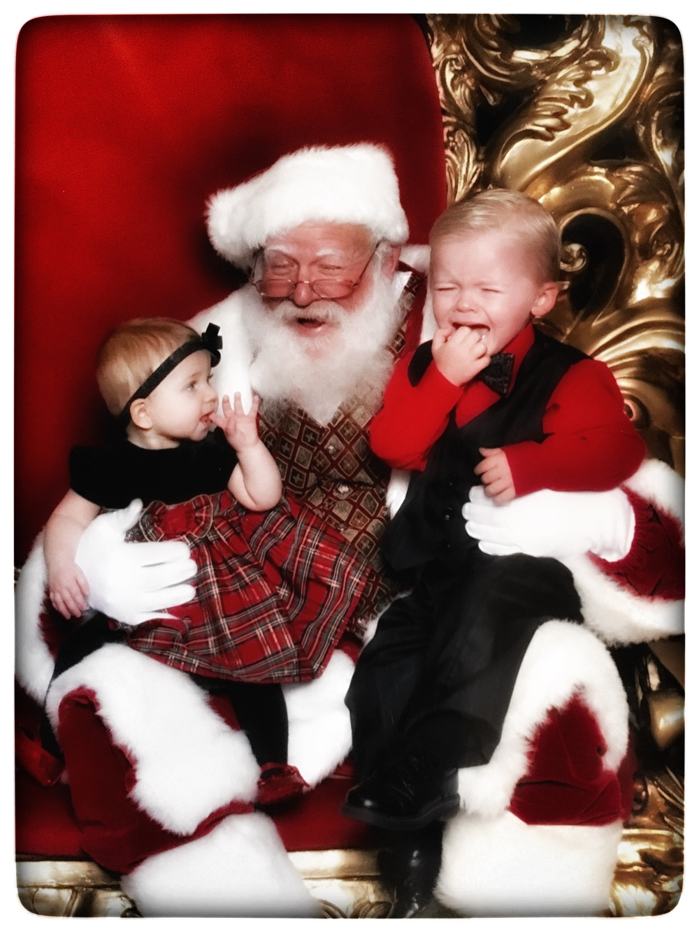 Santa picture at the mall in Sierra Vista, AZ
