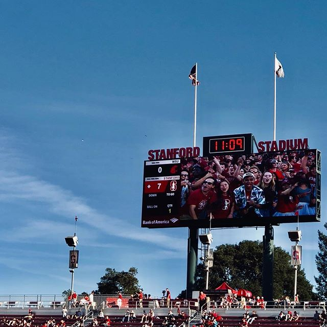 Yards and Tackles on a Saturday afternoon #stanford #stanfordfootball #stanfordstadium #stanfordcardinal #stanforduniversity #football #bayarea #anothergreatsaturday  #yardsandtackles #community