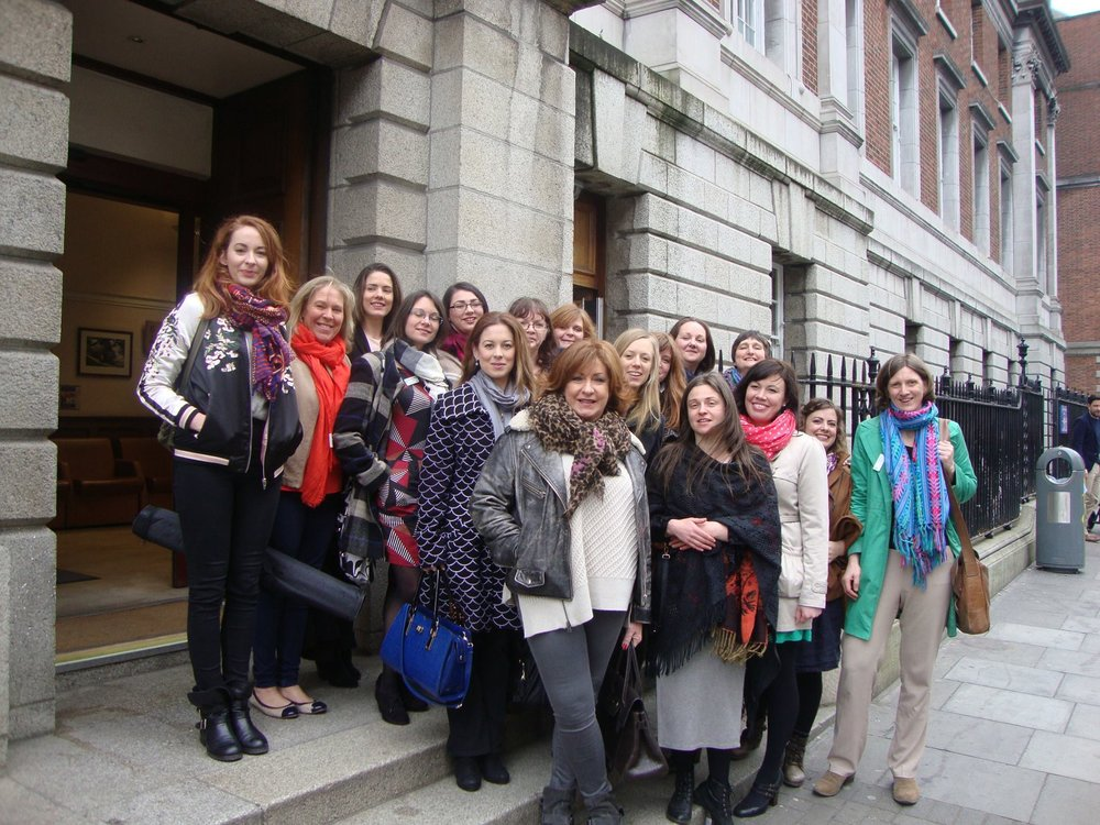 DAI Members outside Holles Street Hospital, Dublin