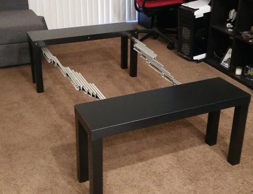 Ikea Hack Expanding Side Table To Board Game Table