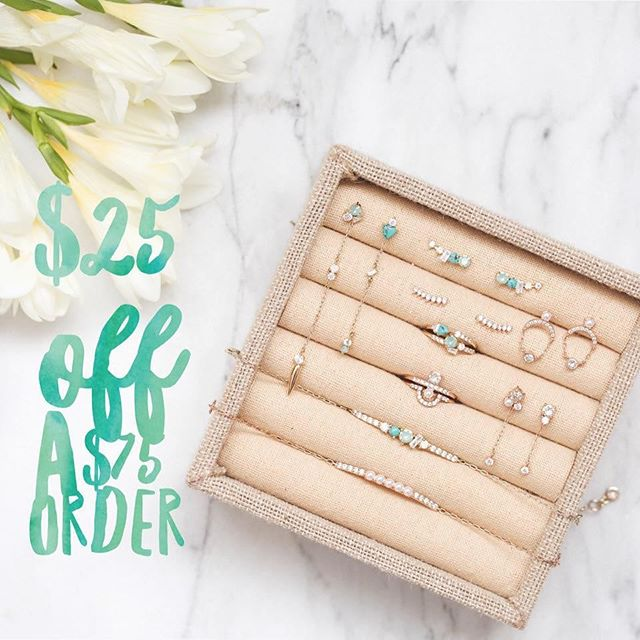 "Happy Saturday! I have one code for $25 off of your Chloe + Isabel order of $75 up for grabs. First one to comment ""me"" below gets it! . *must be used today by 11:59pm EST *cannot be combined with any other sales or promotions."