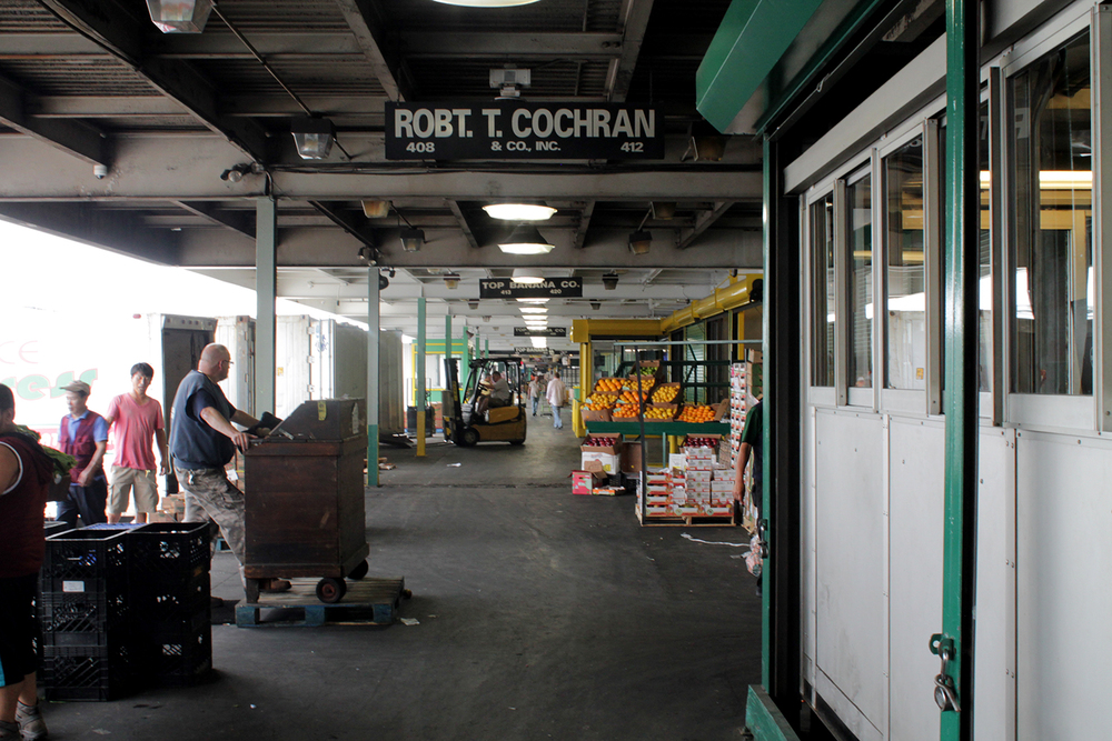 Front of Robt. T. Cochran market at Hunts Point Terminal Market