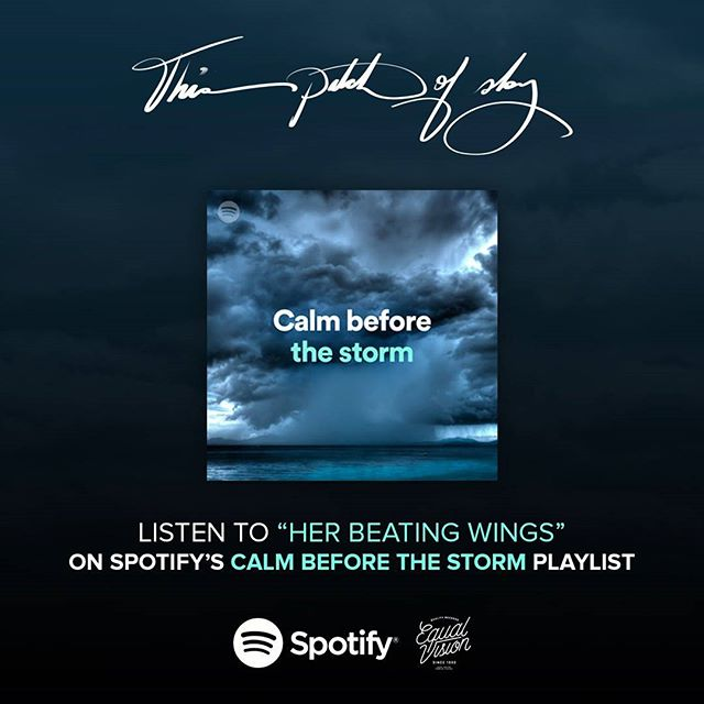 Thank you @spotify for adding 'Her Beating Wings' to the Calm Before the Storm playlist 🙏 In good company with @hammockband, @thiswilldestroyyoumusic, @explosionsinthesky and many others 🎧
