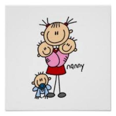 stick figure babysitter